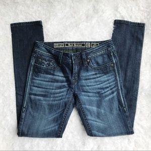 Rock Revival Dark Wash Tara Skinny Jeans 28